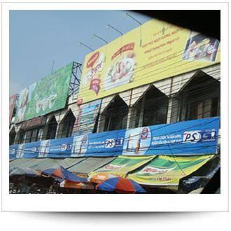 Làm biển quảng cáo - biển pano công trình tại Hà Nội