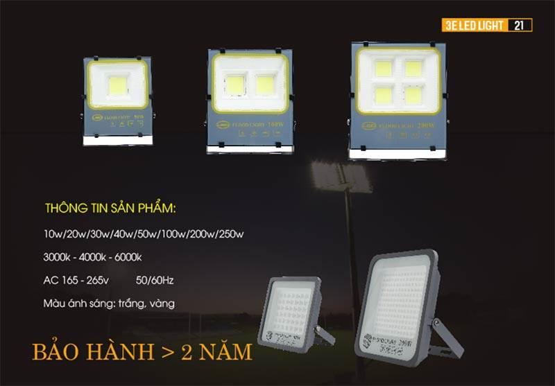 Bán đèn led pha chiếu sáng biển quảng cáo, khuôn viên, sân vườn