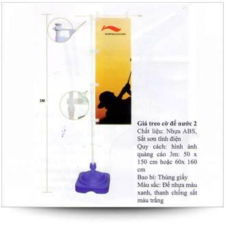 Gía treo cờ chân chứa nước
